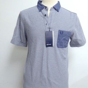 NWT FRED PERRY SHORT SLEEVE slim fit POLO SHIRT L